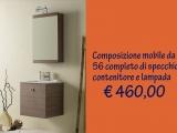 Mobile bagno composizione small con specchio contenitore